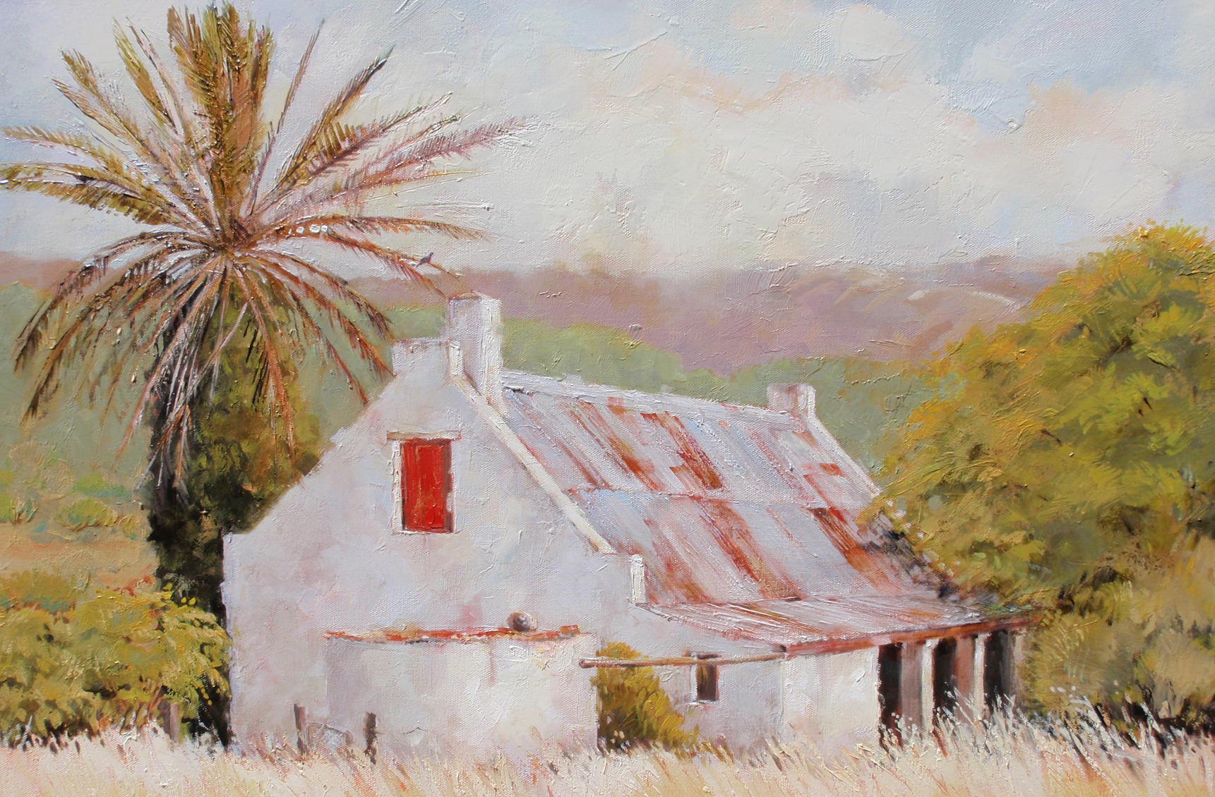 Old cottage 600x760 oil