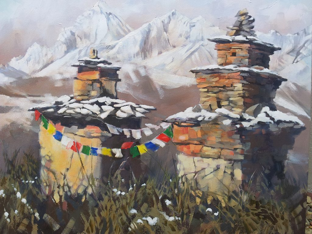 Oil. Shrine near Muktinath 600x750