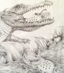 Drawing. Croc mom 430x380
