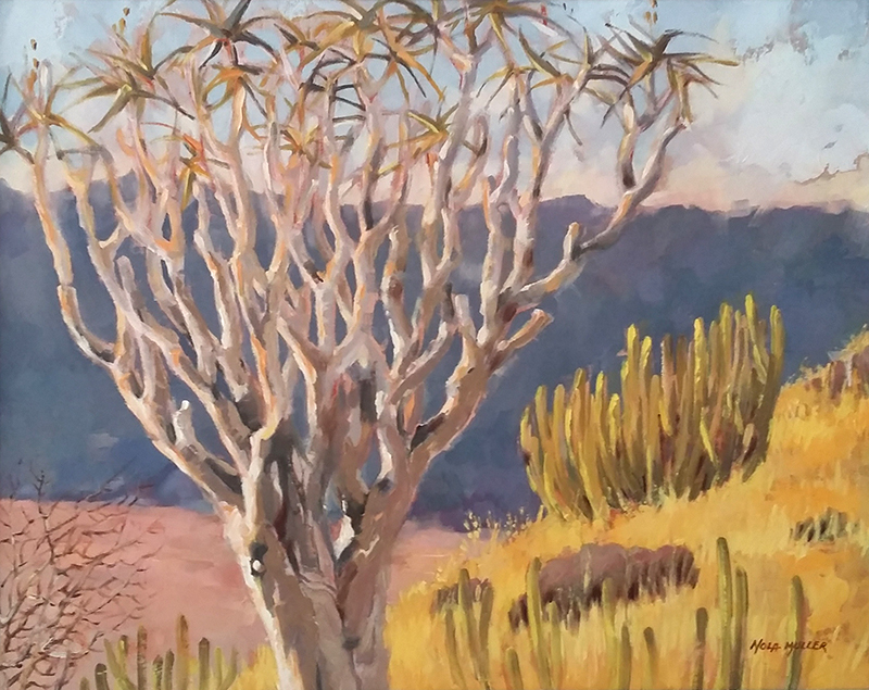 Oil. Quivertree country 400x510