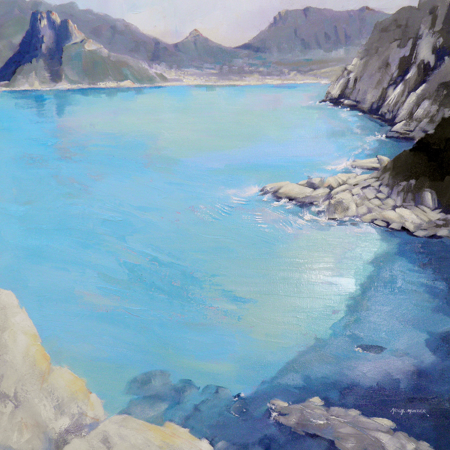 Oil. Cyclists view from Chappies 750x750
